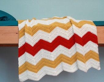 Crochet Blanket Pattern - Chevron Blanket