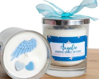 Engel - Luxus Glas Kerze
