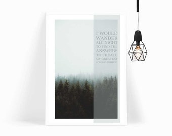 Wall Art, Poster, Home Decor, Print, Adventure Awaits, Art Print, Printable Art,Forest,Gift For Her,Gift,Office Decor,Quote,Nordic,Tropical