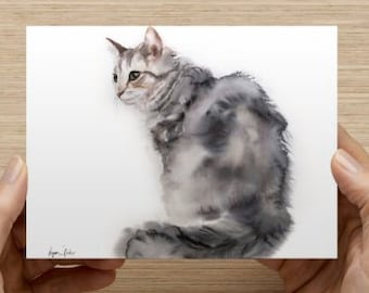 "Card with my cat art (5.47"" x 4.21"")"