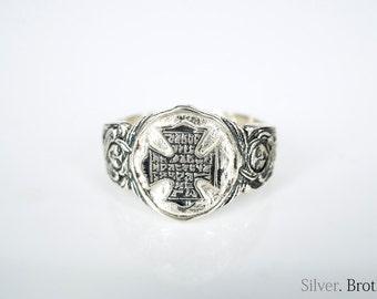 925 Sterling Silver Cross Ring