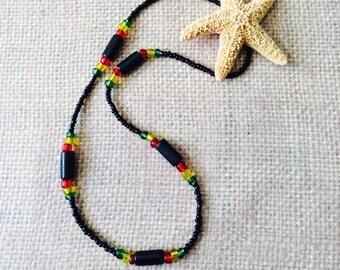 Rasta Wooden Necklace for Men & Women.