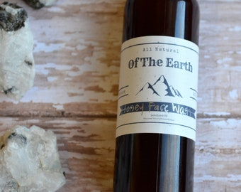 Face Wash Honey or Chamomile - 2 oz bottle - All Natural