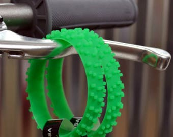 SET OF FIVE Green Knobby Dirt Bike Tire Wristbands