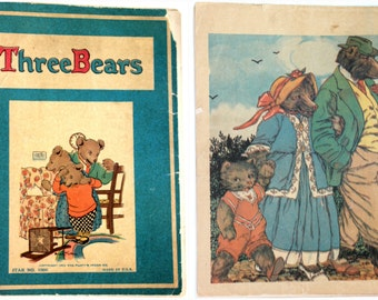 1922 Three Bears Illustrated by Eulalie Banks - First Edition Star #100 SCARCE RARE - The Platt  Munk Co