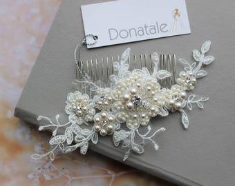 Bridal hair comb, Bridal hair Accessories,Bridal headpiece, Wedding hair comb, Wedding Headpiece , Bridal hair piece - IVANNA