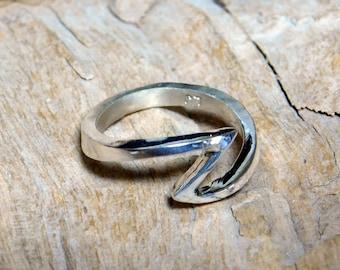Sterling Silver Z Ring  RF660