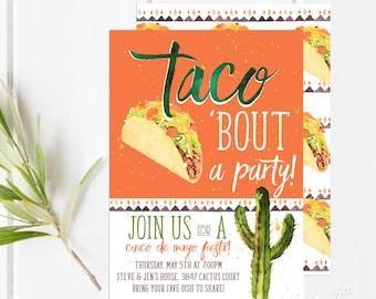 Taco Party | Cinco de Mayo | Fiesta Invitation | Taco Invitation | Fiesta Party | Mexican Fiesta | Mexican Party
