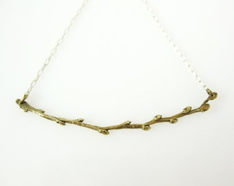 Budding Branch Necklace, Bronze Branch Necklace