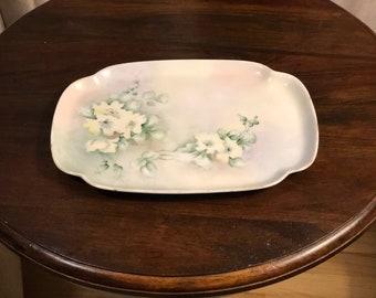 Vintage PK Silesia Hand Painted Platter