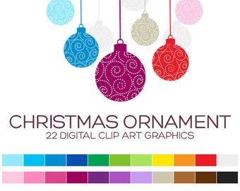 Christmas Clipart Christmas Clip Art Christmas Digital Clipart Digital Christmas Tree Clipart Ornament Clipart Santa Clipart Sale - A90018