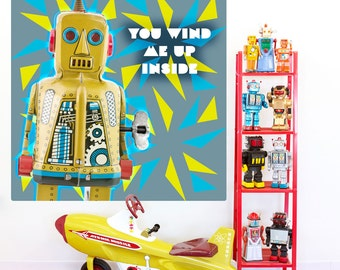 You Wind Me Up Toy Robot Wall Decal - #55757