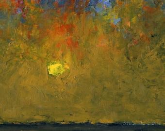Yea, Though I Walk - Original Oil Painting Landscape Painting Abstract Landscape Painting - 5 x 7