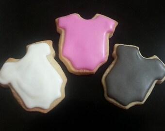 Mini Baby Onesie Cookies (3 dozen)