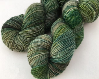 Hand dyed yarn Dandy sock -'Treehouse'