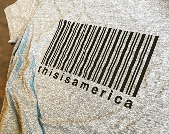 This is America Barcode T-Shirt