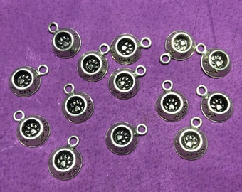 Cat Food Dish 3D Pewter Charms