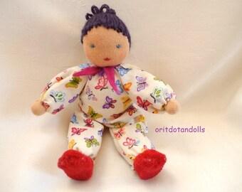 Doll for doll house and playing, 6.5inch /16cm    בובת וולדורף לבית בובות
