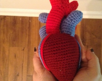 MADE TO ORDER -Anatomical human heart plush