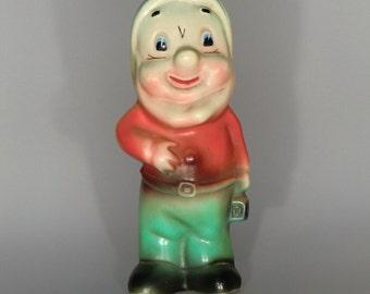 Czechoslovakia Plastic Squeaky Toy Dwarf