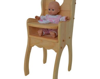 Natural Dolly's High Chair