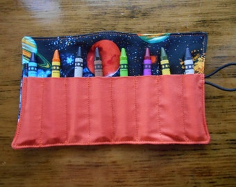 Planet space crayon roll up 8 count