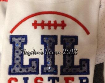 Lil sister football shirt