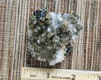 Mineral Specimen for sale - pyrite with crystal - natural decor