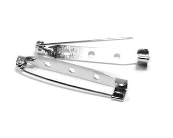 12pcs--Barpins Platinum Color, 40mm (B57-2)