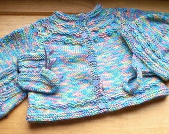 Welcome Baby  Infant Sweater Set with Hat and Booties