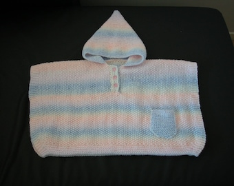 Baby girl hooded poncho size 1 month