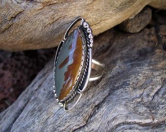 Owyhee Jasper Statement Ring Size 8