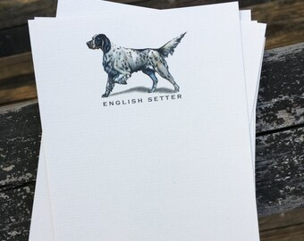 English Setter Dog Note Card Set