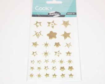 sticker  stars gold