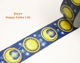 Japanese Washi Masking Tape - Sun & Moon - 19 yards
