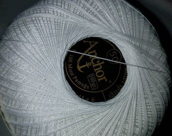 4 balls of Anchor 6 Katli 100% mercerized cotton. Made in Germany