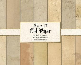 8.5x11 Old Paper Textures digital paper, printable aged paper textures, digital backgrounds, vintage paper, antique paper digital download