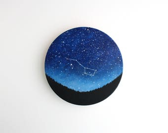 Big Dipper Constellation Night Sky Circle Painting