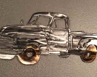 1951 Chevy Truck, Metal Art, Metal Wall Art, Home Decor, Metal Wall Decor, Metal Truck
