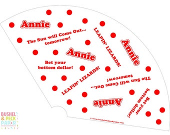 Annie Party Cones - PRINT & SHIP or DIGITAL