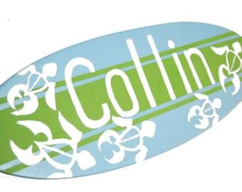 Ocean Nursery Decor, Surfboard Wall Art, Surfer Baby Shower Gift