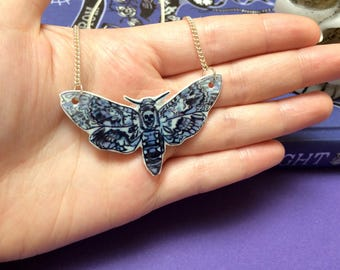 Death's Head Moth - Necklace - Shrink plastic