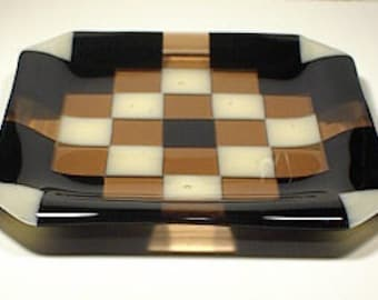 CIG-37 - Fused Glass Plate - from Quilt Series
