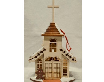 Gingerhaus - TRC  Wooden Church Ornament