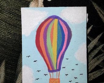 Itty Bitty Painting Hot Air Balloon ACEO Original Art Painting Miniature