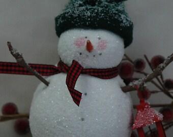 Folk Art Snowman with Lantern (X-SM-LANTERN)