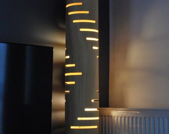 Floor lamp #3 from bent plywood with natural wood texture, birthday present, gift