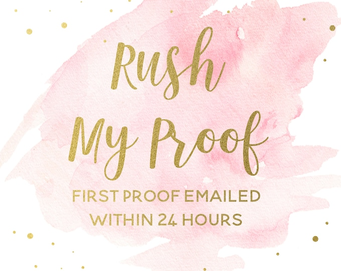 RUSH ORDER-- first proof within 24 HOURS, Digital or Printed Invitations, Chalkboard Birthday Signs, Etc. Add-on