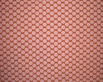 "Amy Butler Full Moon polka dot camel fabric 22"" X 42"""
