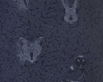 FOREST Midnight Dark Blue Wallpaper 10 Meter Roll